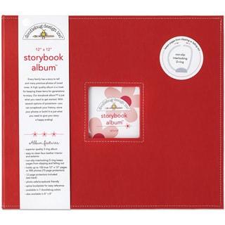 Doodlebug Ladybug Red Fabric 12-inch Storybook Album
