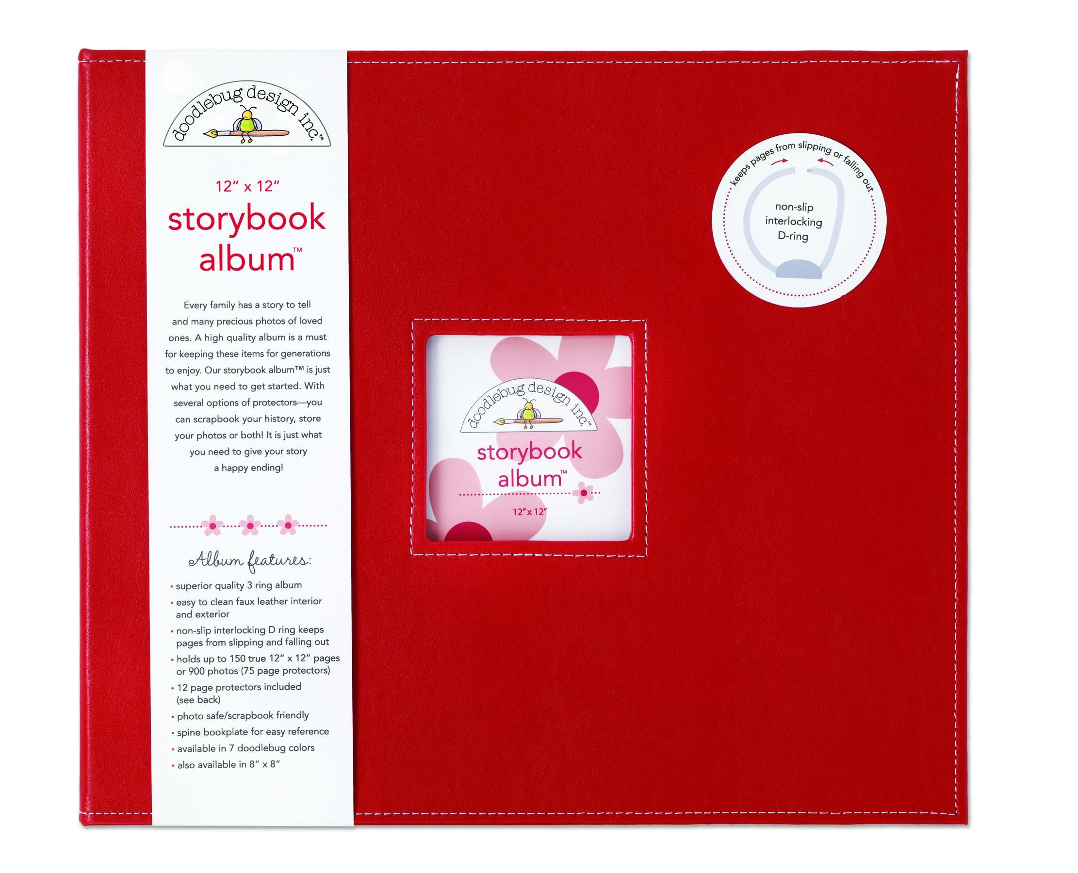 Doodlebug Bubblegum Fabric Storybook Album 12 x 12 e09b0284 445b 4534 b395 24f4e37c0289