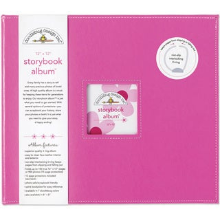 Doodlebug Bubblegum Fabric Storybook Album (12' x 12')