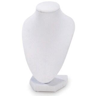 White 6-inch 3D Velvet Necklace Stand