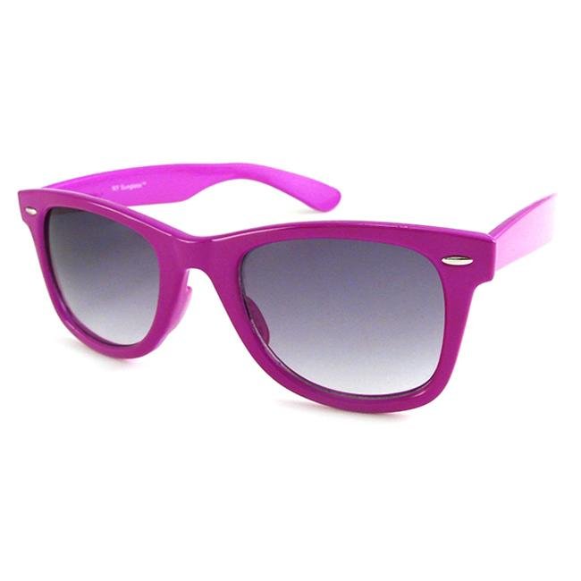 Urban Eyes Neon Unisex Purple Fashion Sunglasses