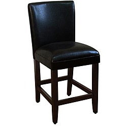 HomePop 24-inch Luxury Black Faux Leather Barstool  sc 1 st  Overstock.com & Faux Leather Bar u0026 Counter Stools - Shop The Best Deals for Nov ... islam-shia.org
