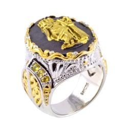 Michael Valitutti Two-tone Porcelain and Yellow Sapphire Ring - Thumbnail 1