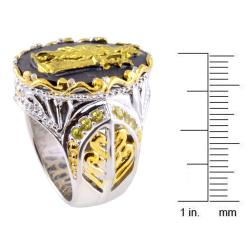 Michael Valitutti Two-tone Porcelain and Yellow Sapphire Ring - Thumbnail 2