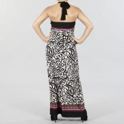 JFW Women's Printed Halter Maxi Dress