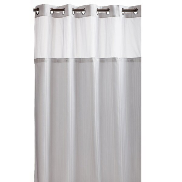 Hookless white premium shower curtain free shipping today