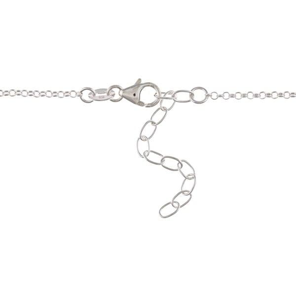 La Preciosa Sterling Silver Ovals and Circles Necklace