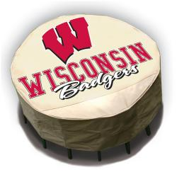 NCAA Wisconsin Badgers Round Patio Set Table Cover
