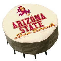 NCAA Arizona State Sun Devils Round Patio Set Table Cover