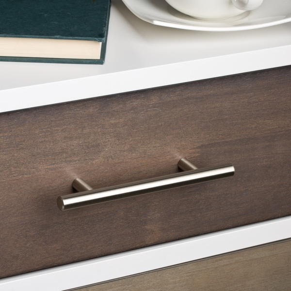 GlideRite 6-inch Solid Stainless Steel Finished Smooth Cabinet Bar ...