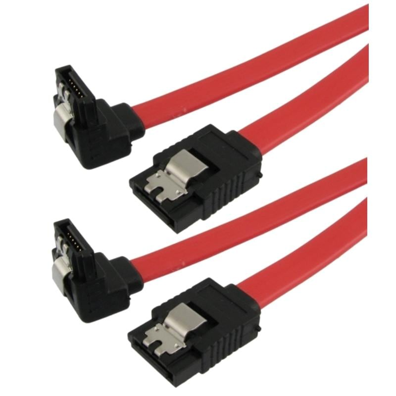 INSTEN SATA Straight to Right Device Cable (Pack of 2)