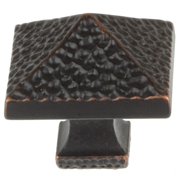 GlideRite 1.25-inch Oil Rubbed Bronze Hammered Pyramid Cabinet Knobs (Case of 25)