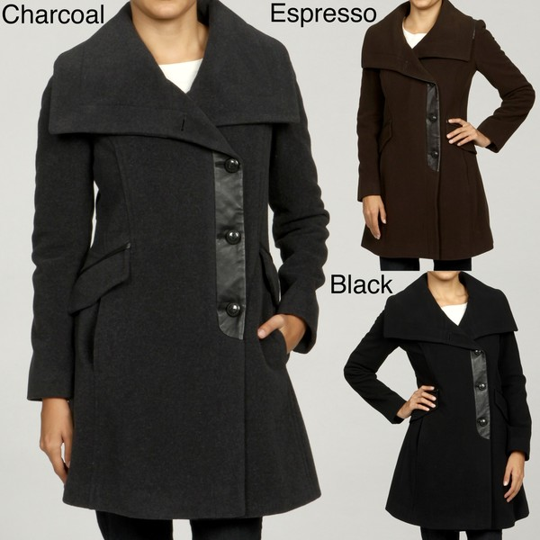 Cole Haan Women's Wool Cashmere Coat FINAL SALE - Free Shipping ...