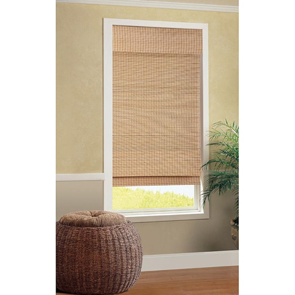 Shop Tiki Cordless Bamboo Roman Shade Free Shipping On