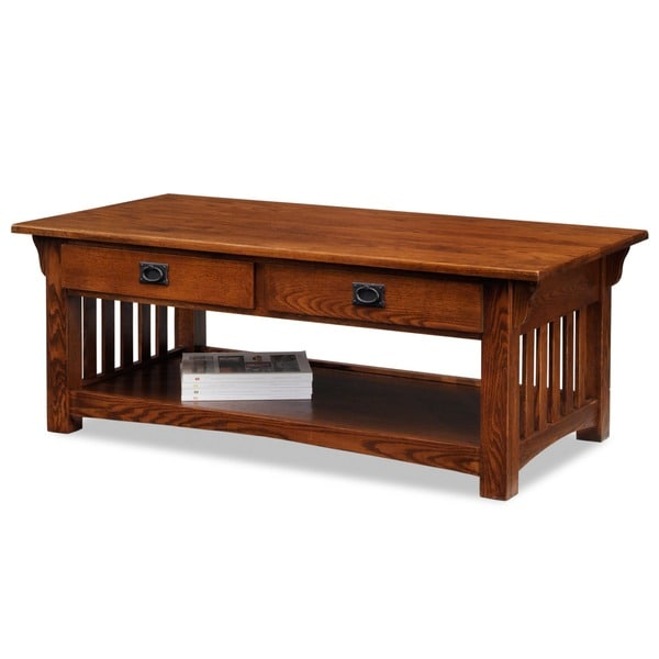 Solid Oak Sienna Two Drawer Coffee Table Free Shipping Today 13827002