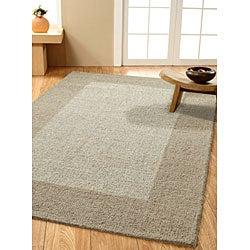 nuLOOM Handmade Moda Solid Border Wool Rug (5' x 8') - Thumbnail 1