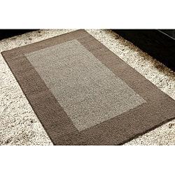 nuLOOM Handmade Moda Solid Border Wool Rug (5' x 8') - Thumbnail 2