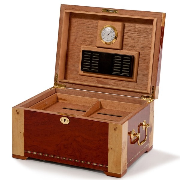 Christopher Knight Home Two-Tone Poplar Wood Humidor