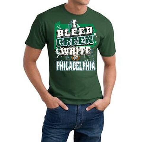 Philadelphia Football 'I Bleed Green & White' Green Cotton Tee