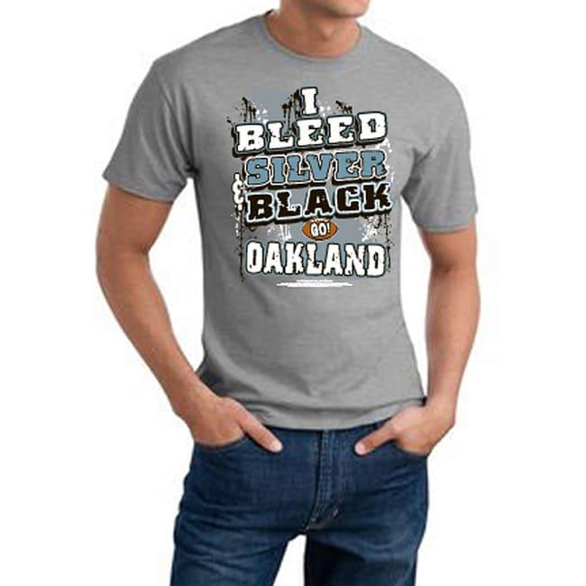 Oakland 'I Bleed Silver & Black' Grat Tee