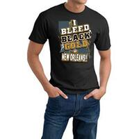 New Orleans Football 'I Bleed Black & Gold' Cotton Tee - New Orleans