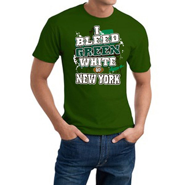 New York Football 'I Bleed Green & White' Green Tee - New York