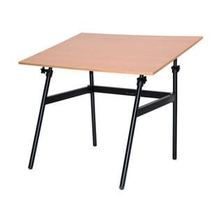 Martin Universal Design Berkeley Classic Black Base Cherrywood Top Table