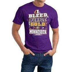 Minnesota Football 'I Bleed Purple & Gold' Purple Cotton Tee - Minnesota Vikings