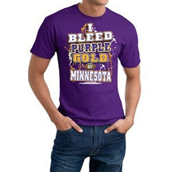 Minnesota Football 'I Bleed Purple & Gold' Purple Cotton Tee