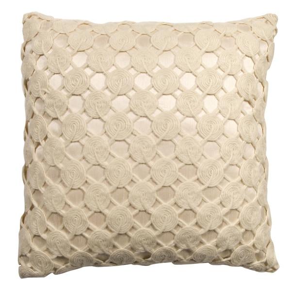 Rose Tree Crochet Decorative Pillow