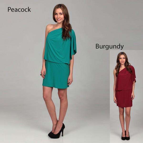 Jessica Simpson Women's Tapenade One-shoulder Dress FINAL SALE