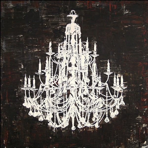Chandelier White And Black Ii Canvas Art Free Shipping Today 6172767