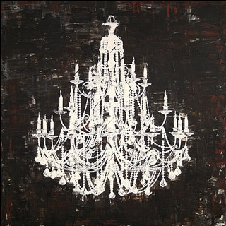 'Chandelier White and Black II' Canvas Art
