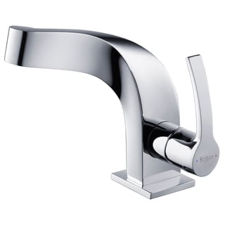 KRAUS Typhon Single Hole Single-Handle Bathroom Faucet in Chrome