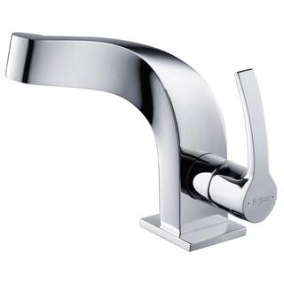 KRAUS Typhon Single Hole Single Handle Bathroom Faucet In Chrome