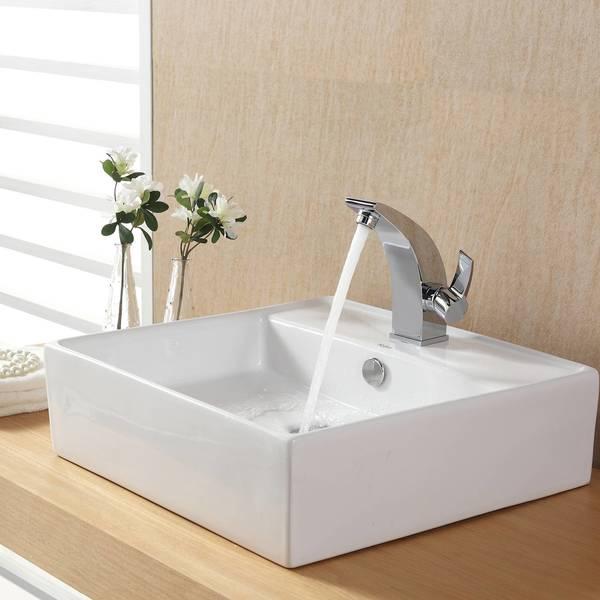 KRAUS Illusio Single Hole Single-Handle Bathroom Faucet in Oil ...