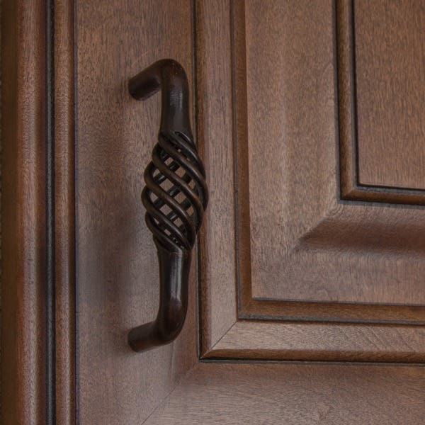 Gliderite 3 Inch Screw Center Twisted Birdcage Cabinet Hardware Pull Rustic Bronze Pack Of 25 Overstock 6172921