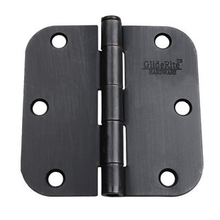 GlideRite 3.5-inch x 5/8-inch Radius Oil Rubbed Bronze Door Hinges (Case of 24)
