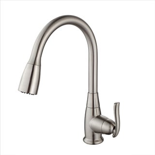KRAUS Single-Handle Stainless Steel High Arch Kitchen Faucet with Pull Down Dual-Function Sprayer