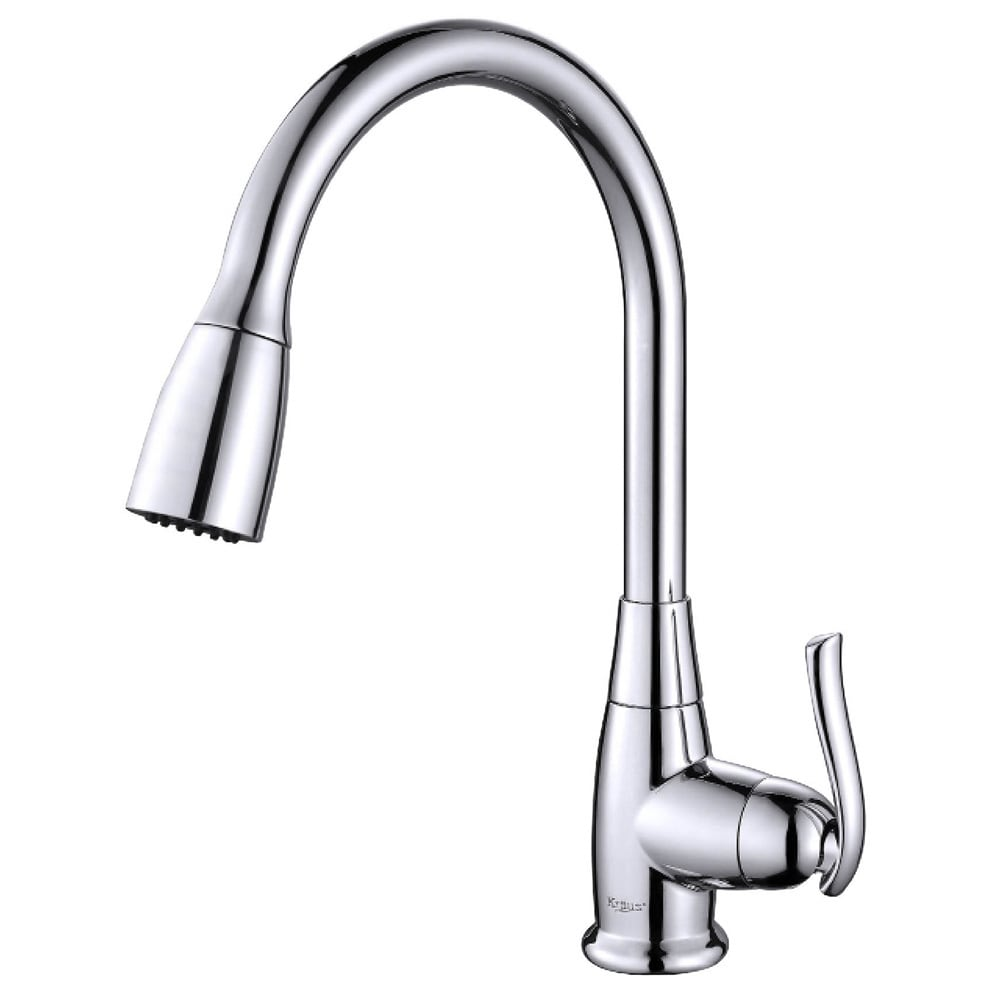 KRAUS Single-Handle Stainless Steel High Arch Kitchen Faucet with Pull Down Dual-Function Sprayer in Chrome (2 options available)