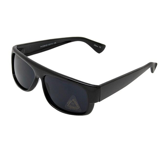 Men's Onyx Black Plastic Sport Sunglasses