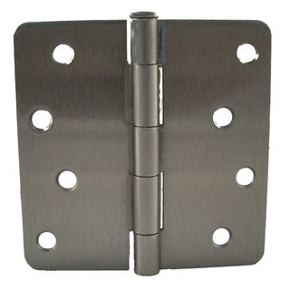 GlideRite 4-inch x 1/4-inch Radius Satin Nickel Door Hinges (Case of 24)