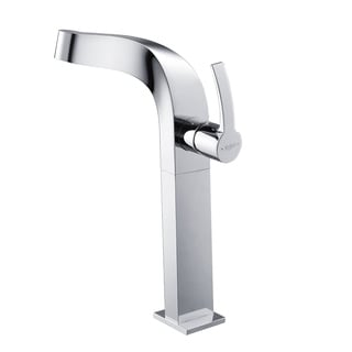 KRAUS Typhon Single Hole Single-Handle Vessel Bathroom Faucet in Chrome
