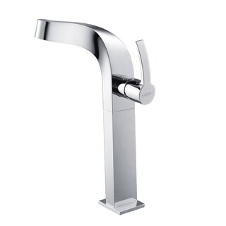Kraus KEF-15100 Typhon Single Hole Single-Handle Bathroom Vessel Faucet in Chrome