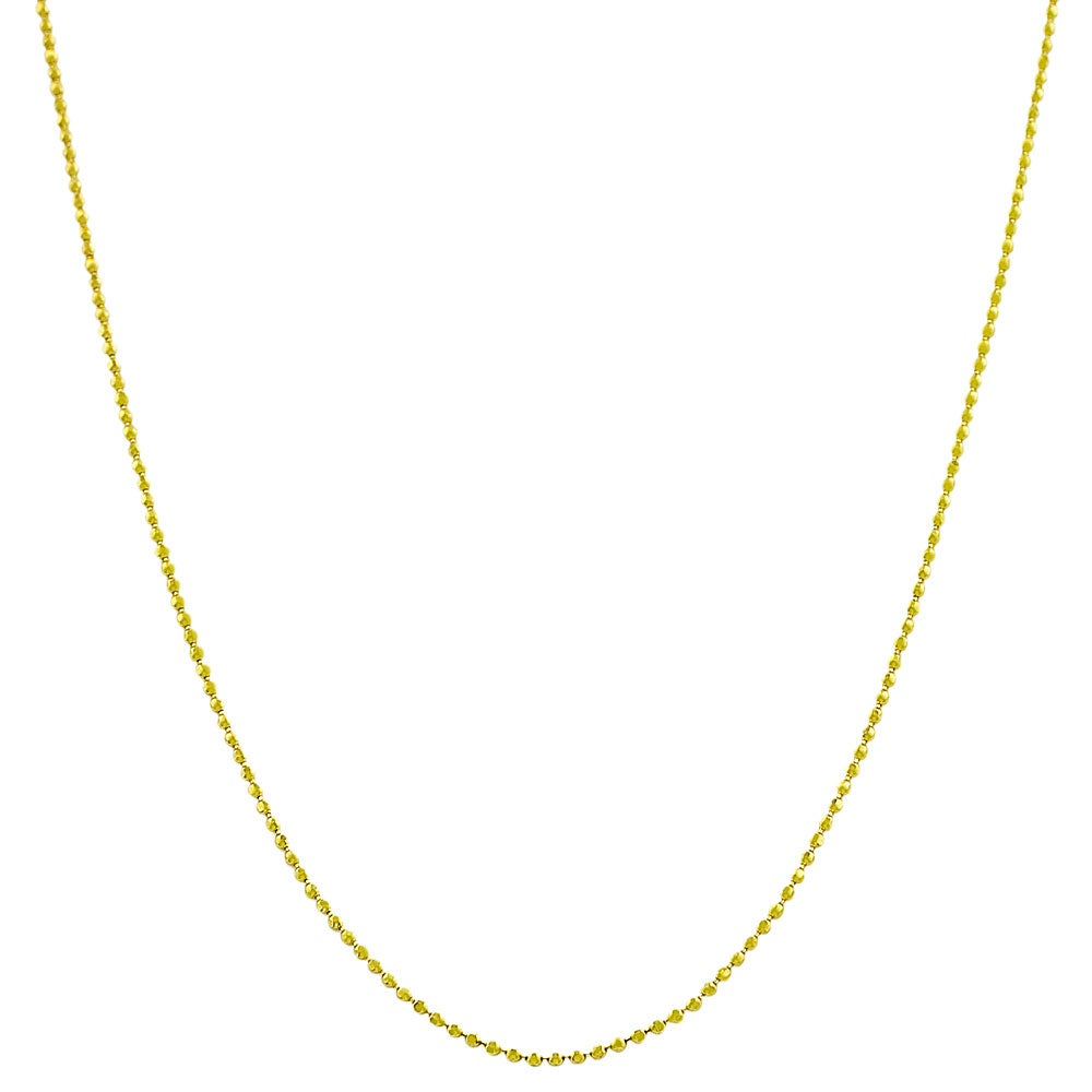 Fremada 14k Yellow Gold 20-inch Diamond-cut Ball Chain