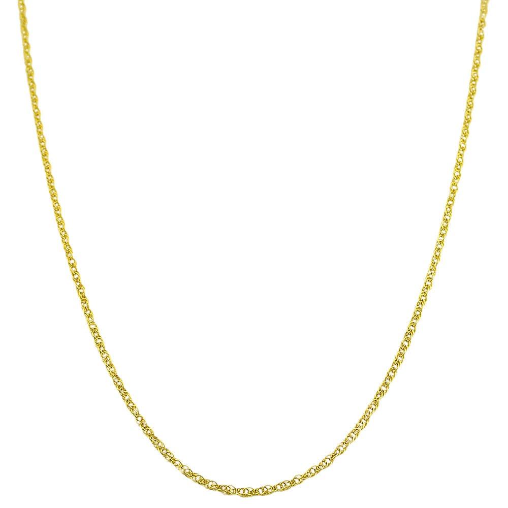 Fremada 14k Yellow Gold 18-inch Lite Rope Chain