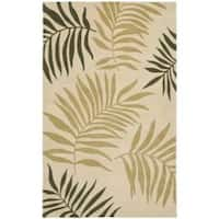 Safavieh Handmade Ferns Beige New Zealand Wool Rug - 7'6 x 9'6
