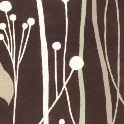 Safavieh Handmade Gardens Dark Brown New Zealand Wool Rug (3'6 x 5'6') - Thumbnail 2