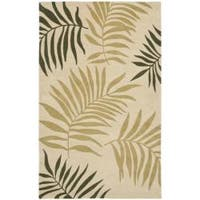 Safavieh Handmade Ferns Beige New Zealand Wool Rug - 3'6 x 5'6