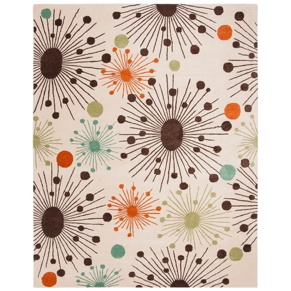 "Safavieh Handmade Cosmos Ivory New Zealand Wool Rug - 7'-6"" x 9'-6"""